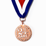"24® Game Logo ""Bronze"" Medal"
