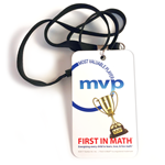 First In Math MVP Badge with Lanyard